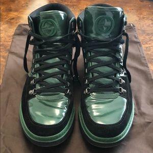 Gucci Men's Sneakers Green/Black 12.5